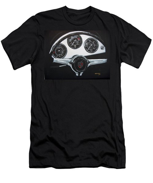 Men's T-Shirt (Athletic Fit) featuring the painting 356 Porsche Dash by Richard Le Page