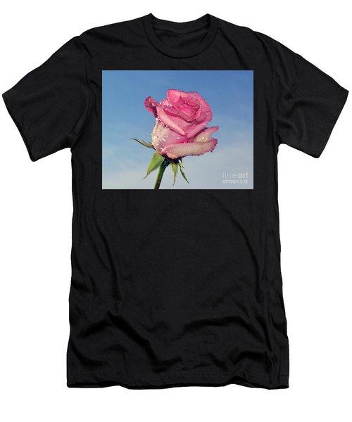 Nice Rose Men's T-Shirt (Athletic Fit)