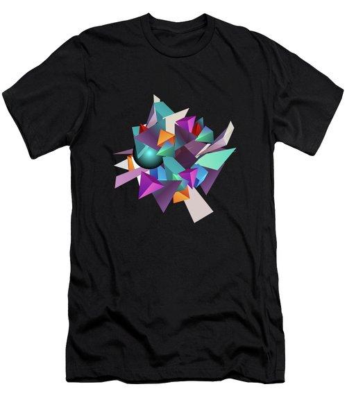 3d Geometric  Men's T-Shirt (Athletic Fit)