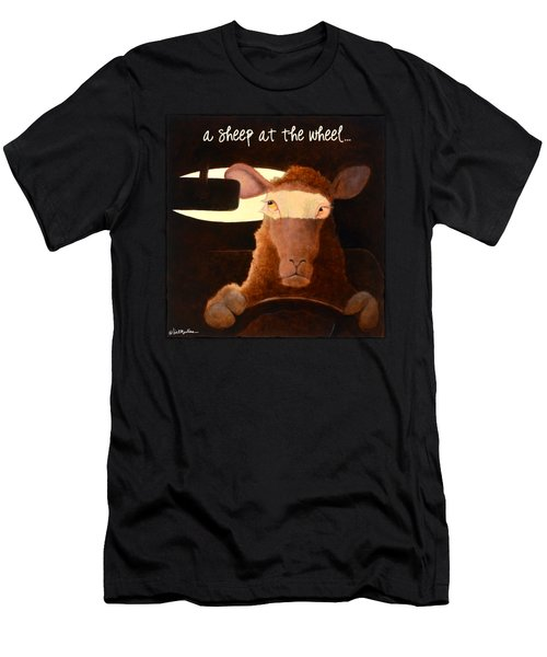 A Sheep At The Wheel... Men's T-Shirt (Athletic Fit)
