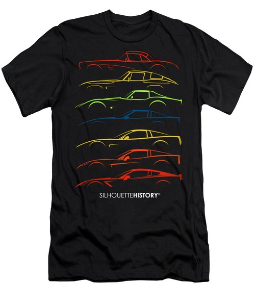 American Sports Car Silhouettehistory Men's T-Shirt (Athletic Fit)