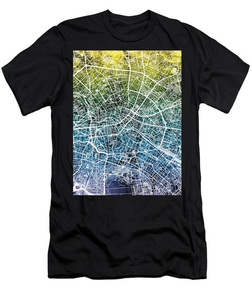 Berlin Germany City Map Men's T-Shirt (Athletic Fit)