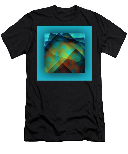Men's T-Shirt (Athletic Fit) featuring the digital art Color Patches by Mihaela Stancu