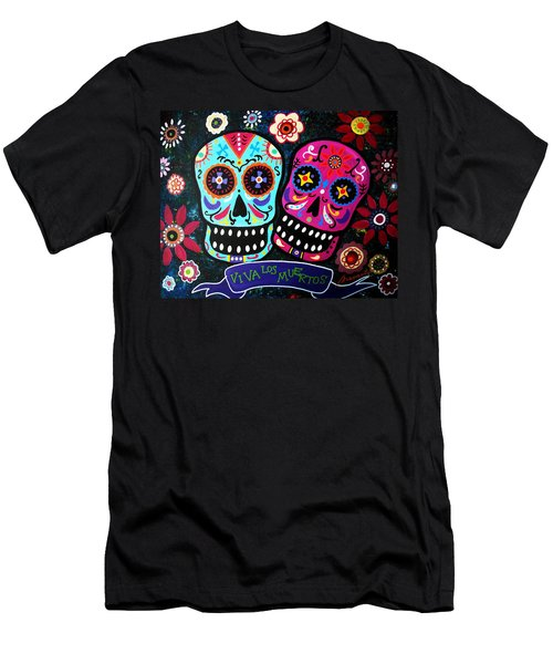 Couple Day Of The Dead Men's T-Shirt (Athletic Fit)