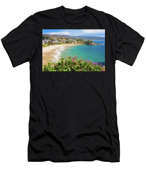Crescent Bay, Laguna Beach, California Men's T-Shirt (Athletic Fit)