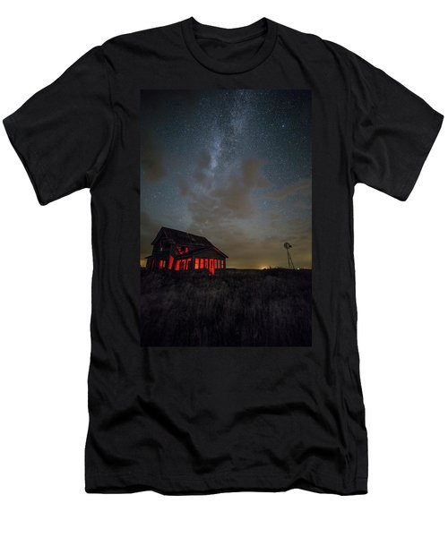 Men's T-Shirt (Athletic Fit) featuring the photograph Dark Place  by Aaron J Groen