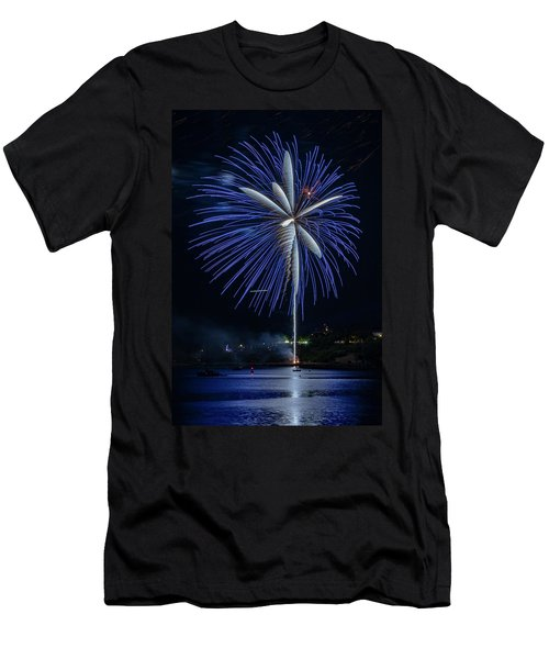 Fireworks Over Portland, Maine Men's T-Shirt (Athletic Fit)