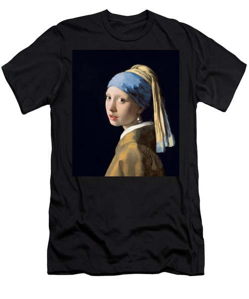 Girl With A Pearl Earring Men's T-Shirt (Athletic Fit)