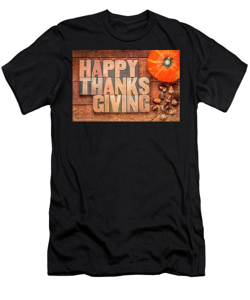 Happy Thanksgiving Greeting Card Men's T-Shirt (Athletic Fit)