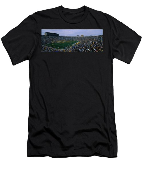 High Angle View Of A Football Stadium Men's T-Shirt (Athletic Fit)