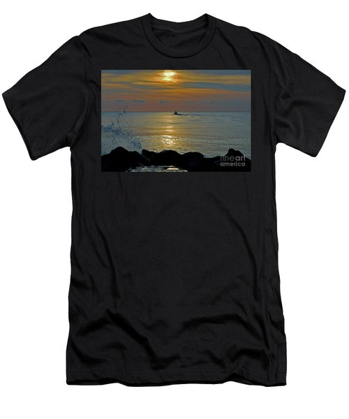 Men's T-Shirt (Slim Fit) featuring the photograph 4- Into The Day by Joseph Keane
