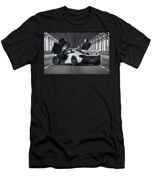#mclaren #p1 #print Men's T-Shirt (Athletic Fit)