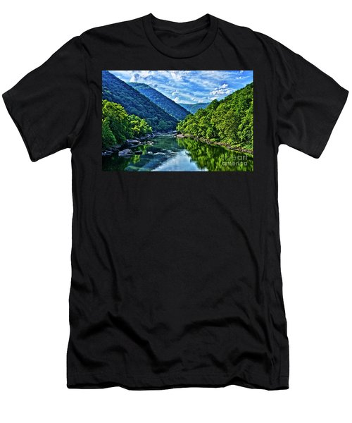 New River Gorge National River Men's T-Shirt (Athletic Fit)