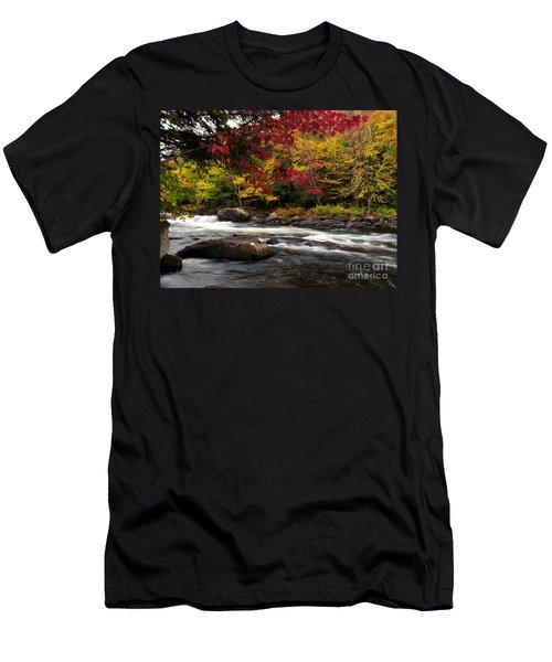 Ontario Autumn Scenery Men's T-Shirt (Athletic Fit)