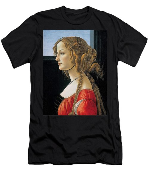 Portrait Of A Young Woman Men's T-Shirt (Athletic Fit)