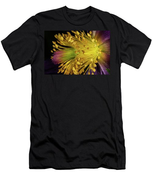 Purple And Yellow Men's T-Shirt (Athletic Fit)