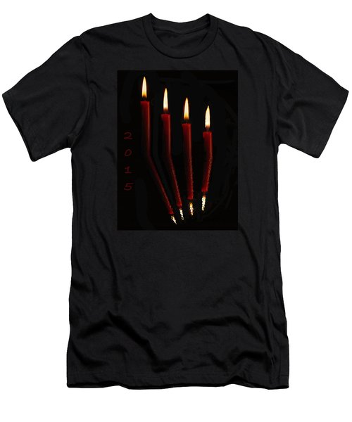 4 Reflected Candles Men's T-Shirt (Athletic Fit)