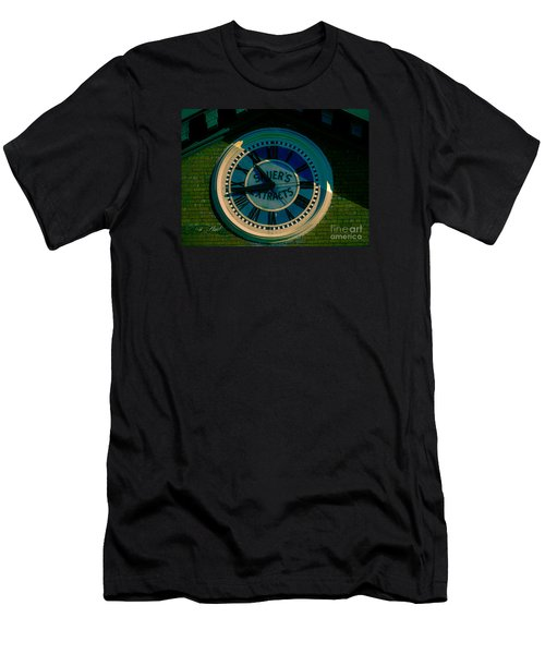 Men's T-Shirt (Slim Fit) featuring the photograph Sauer Clock by Melissa Messick