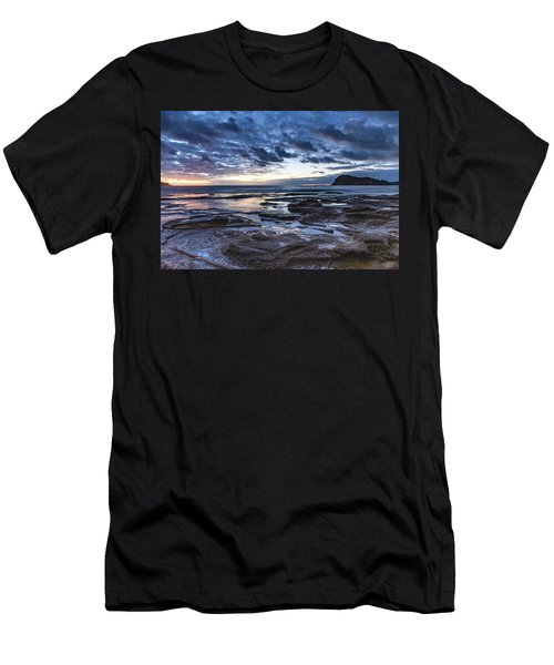 Seascape Cloudy Nightscape Men's T-Shirt (Athletic Fit)
