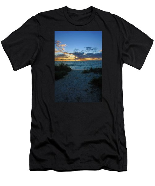 Sunset At Delnor Wiggins Pass State Park Men's T-Shirt (Athletic Fit)