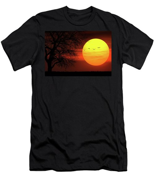 Men's T-Shirt (Slim Fit) featuring the photograph Sunset by Bess Hamiti