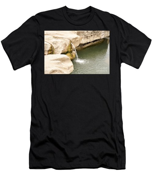 Men's T-Shirt (Slim Fit) featuring the photograph Texas - Mckinney Falls State Park  by Ray Shrewsberry