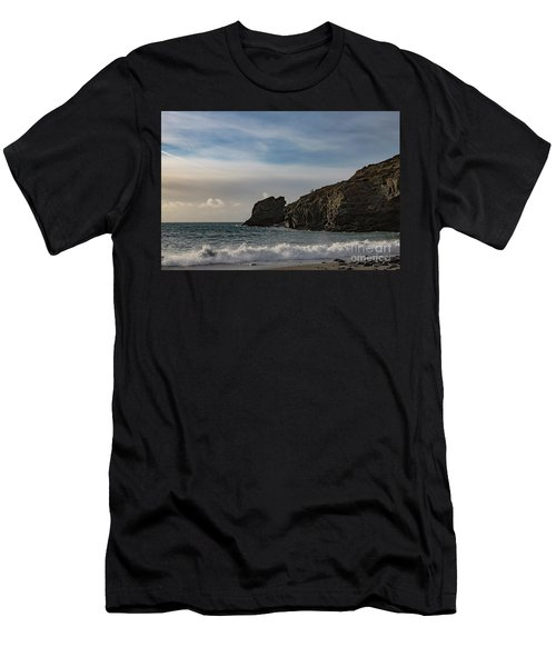 Men's T-Shirt (Slim Fit) featuring the photograph Trevellas Cove Cornwall by Brian Roscorla