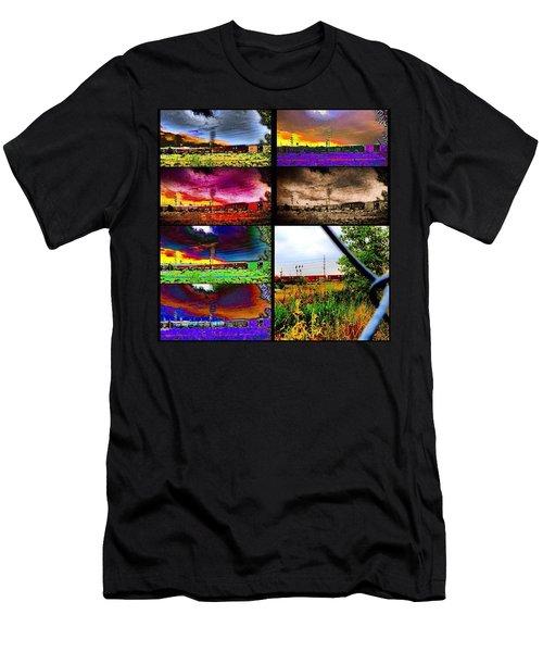 Urban Mobile Art Installation Men's T-Shirt (Athletic Fit)