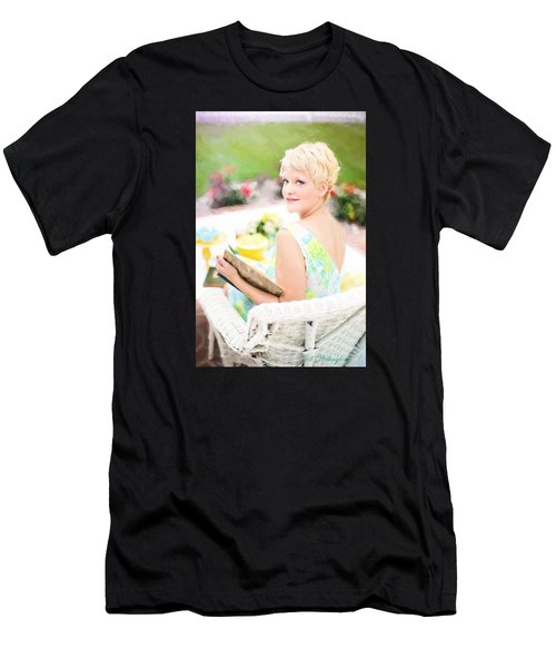 Men's T-Shirt (Athletic Fit) featuring the digital art Vintage Val Iced Tea Time by Jill Wellington