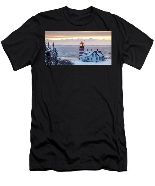 West Quoddy Lighthouse Men's T-Shirt (Athletic Fit)