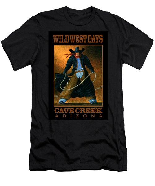 Men's T-Shirt (Slim Fit) featuring the painting Wild West Days Poster/print  by Lance Headlee