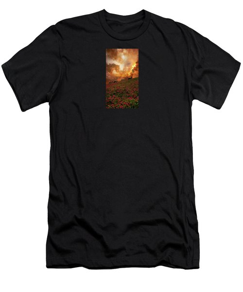 Men's T-Shirt (Slim Fit) featuring the photograph 4370 by Peter Holme III