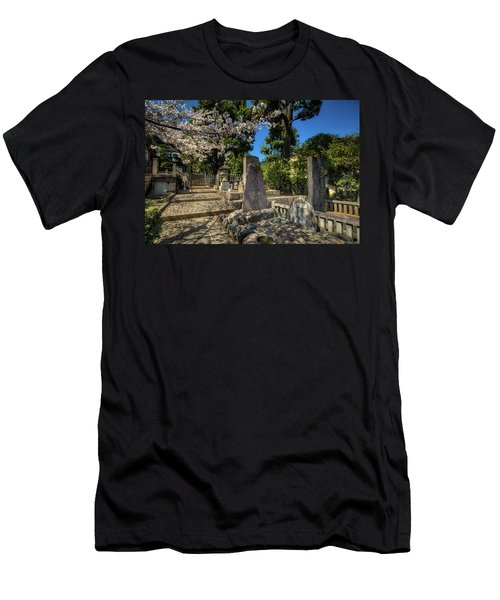 47 Samurai And Cherry Blossoms Men's T-Shirt (Athletic Fit)