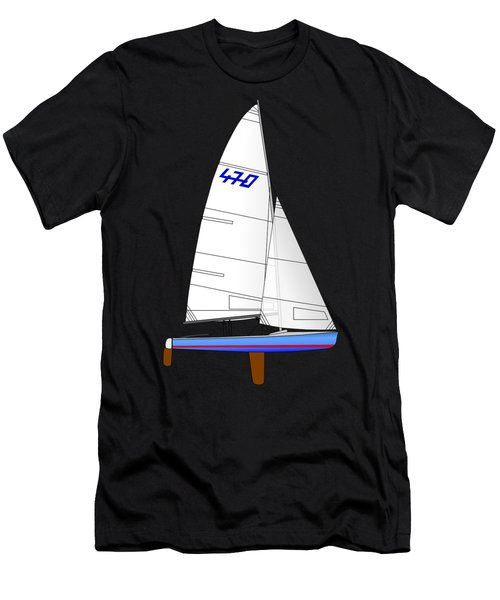 470 Olympic Sailboat Men's T-Shirt (Athletic Fit)
