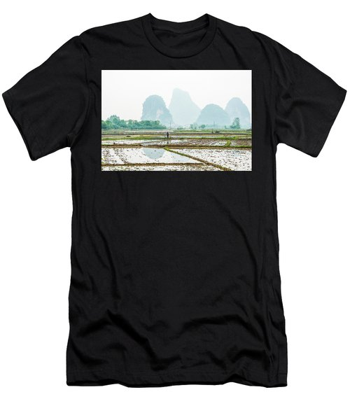 Karst Rural Scenery In Spring Men's T-Shirt (Athletic Fit)