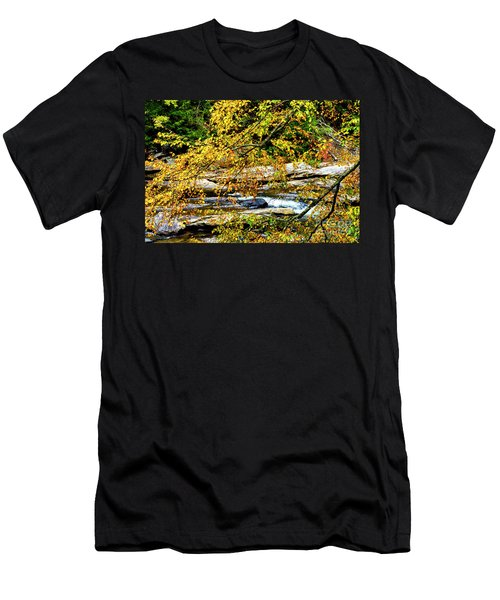 Autumn Middle Fork River Men's T-Shirt (Athletic Fit)