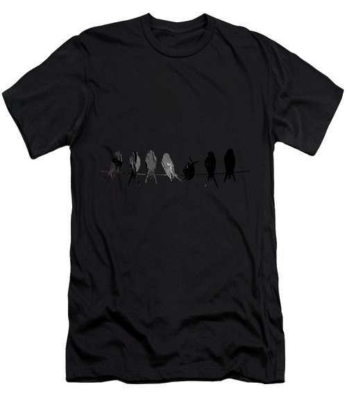Birds On A Wire Collection Men's T-Shirt (Athletic Fit)