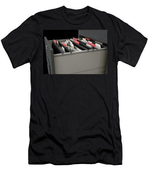 Filing Cabinet Drawer Open Confidential Men's T-Shirt (Athletic Fit)