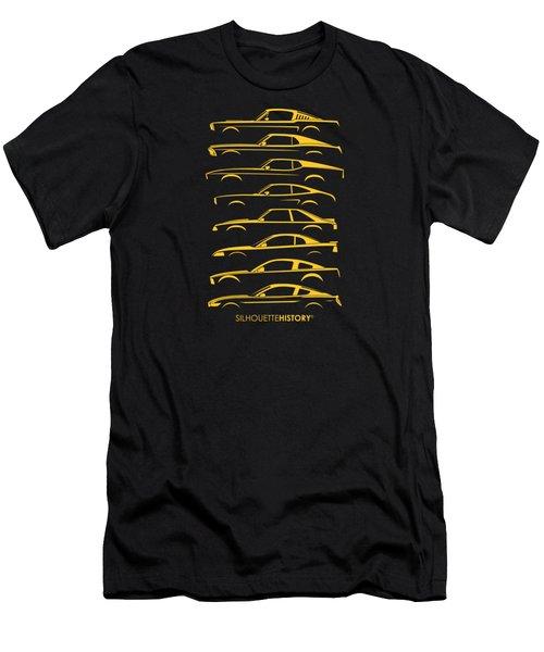 Ford Mustang Silhouettehistory Men's T-Shirt (Slim Fit) by Gabor Vida