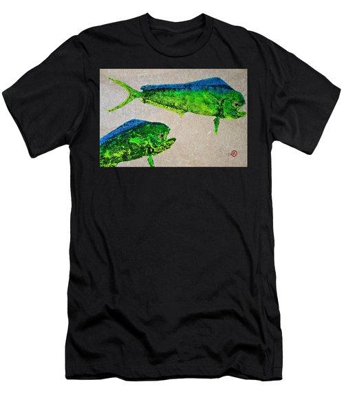 Gyotaku - Mahi Mahi - Dorado - Dolphinfish Men's T-Shirt (Athletic Fit)