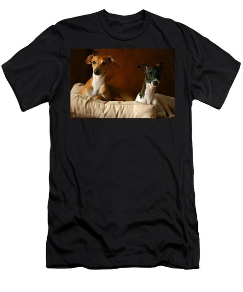 Italian Greyhounds Men's T-Shirt (Athletic Fit)