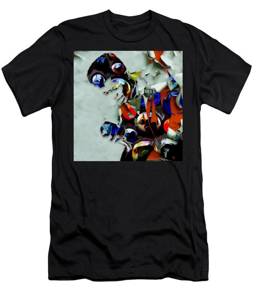 Men's T-Shirt (Athletic Fit) featuring the mixed media James Brown I Feel Good by Marvin Blaine