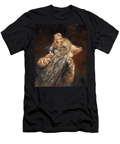 Lion Cub Men's T-Shirt (Athletic Fit)
