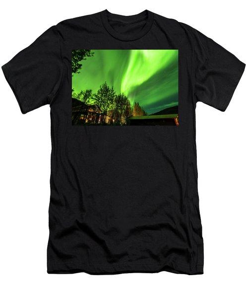 Northern Lights, Aurora Borealis At Kantishna Lodge In Denali National Park Men's T-Shirt (Athletic Fit)