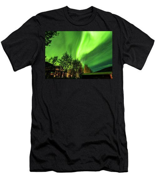 Northern Lights, Aurora Borealis At Kantishna Lodge In Denali National Park Men's T-Shirt (Athletic Fit)