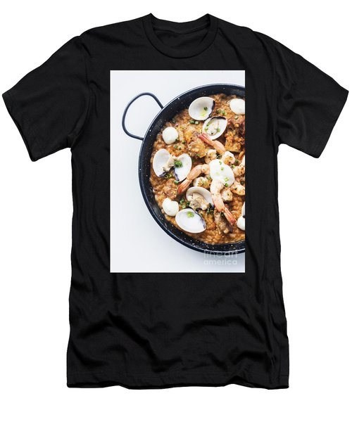 Seafood And Rice Paella Traditional Spanish Food Men's T-Shirt (Athletic Fit)
