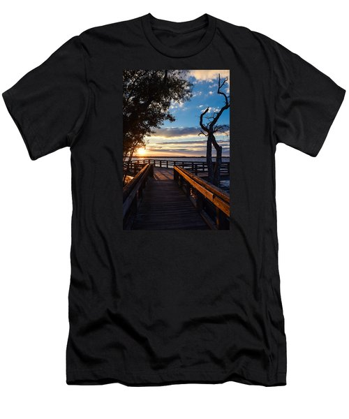 Men's T-Shirt (Athletic Fit) featuring the photograph Sunset On The Cape Fear River by Willard Killough III
