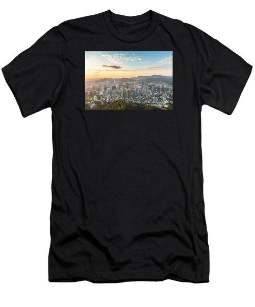 Sunset Over Seoul Men's T-Shirt (Athletic Fit)