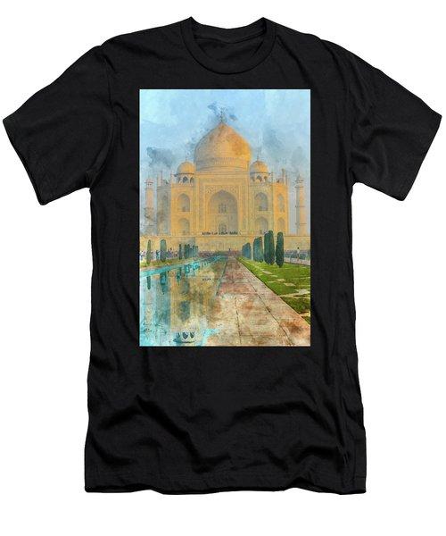 Taj Mahal In Agra India Men's T-Shirt (Athletic Fit)