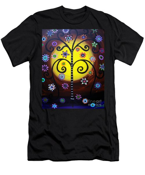 Tree Of Life Men's T-Shirt (Slim Fit) by Pristine Cartera Turkus